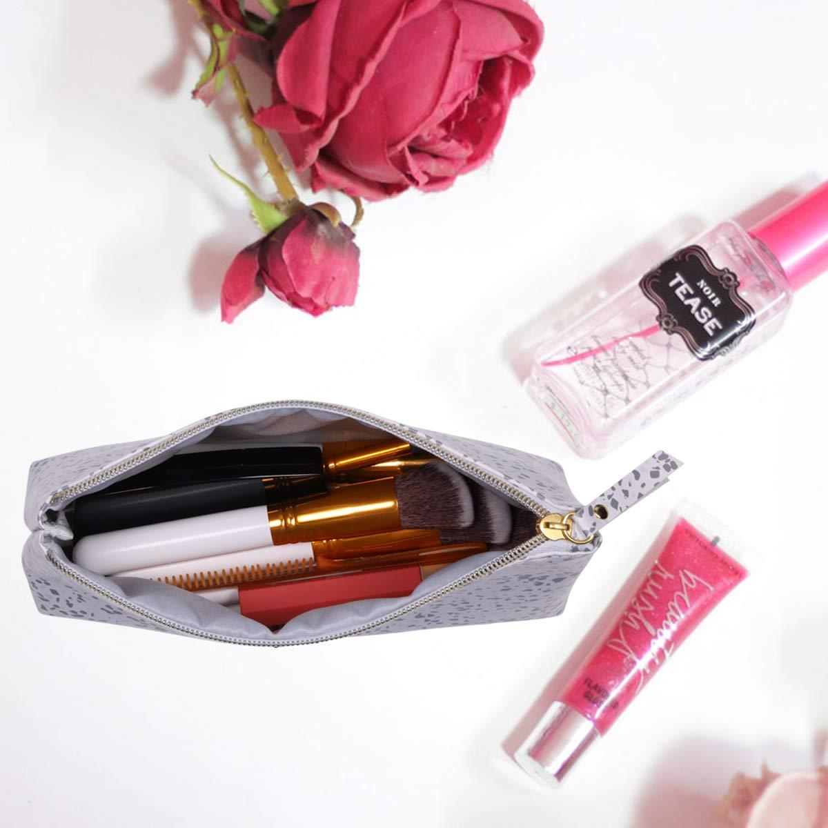Bolsa de aseo Neceser de Viaje para Hombres y Mujeres Bojly Bolsa de Maquillaje Bolso Cosm/ético de Cuero de PU Plegable Impermeable Multifuncional
