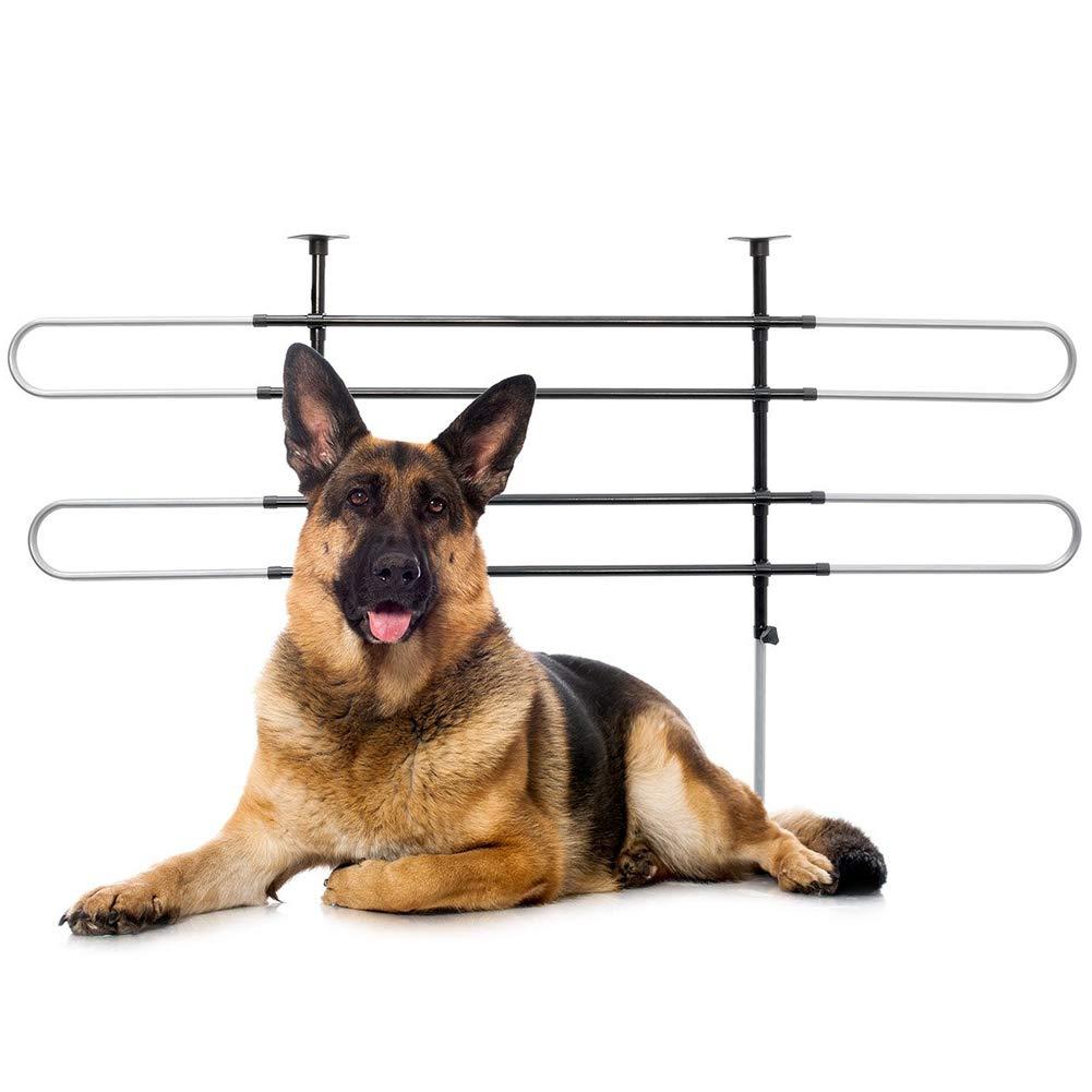 Divisorio Parete per Automobili in Viaggio Trasporto Cani Animali Separatore di Sicurezza Regolabile ed Universale in Acciaio Inox