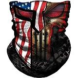 JIEBINGO Skull Face Mask Dust Wind Sun Protection Seamless 3D Tube Mask Bandana for Men Women Durable Thin Breathable…