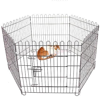 Zhijie-cwl Mascota Perro Pluma Cachorro Gato Conejo Parque de Juegos Plegable Interior/Exterior