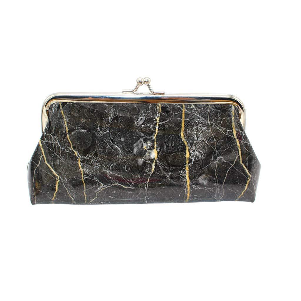 Longra❤ ❤ Personalizado para Las Mujeres Retro Impresión Mini Bolsa, Marble Patrón de Cuero Billetera Monedero Tarjeta Bolso: Amazon.es: Ropa y ...