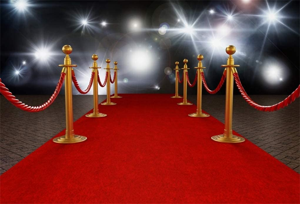 Amazon Com Yeele 5x3ft Photography Backdrop Hollywood Stage Lights Red Carpet Background For Photo Shoots Luxury Vip Royals Club Party Event Decoration Banner Adult Kids Photo Booth Vinyl Studio Props Camera