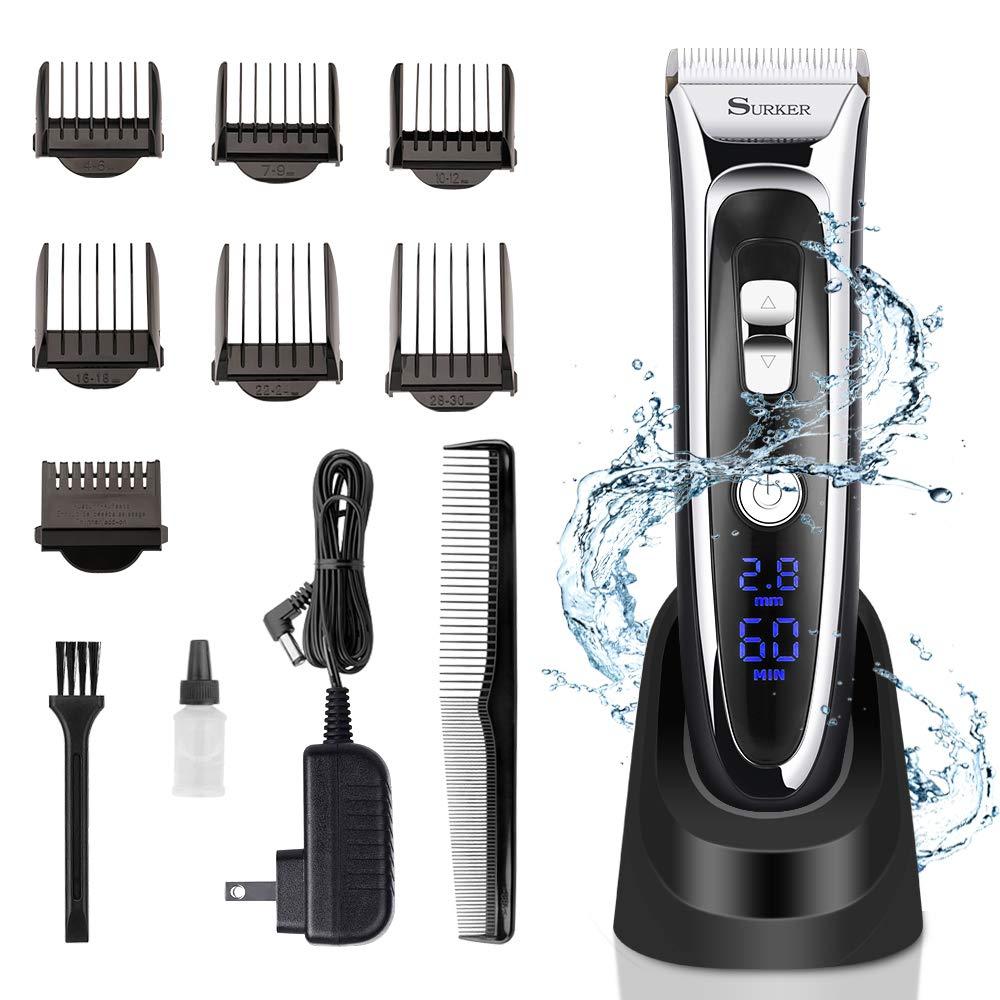 Professional Rechargeable Hair Clipper trimmer Men Haircut Kit Beard Q2T6