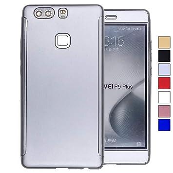 COOVY® Funda para Huawei P9 + Plus 360 Grados, Carcasa Ultrafina y Ligera, con Protector de Pantalla, protección de Cuerpo Completo | Color Lata