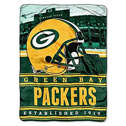 Amazon Northwest NFL Green Bay Packers Stacked Silk Touch 40 X Fascinating Green Bay Packers Throw Blanket