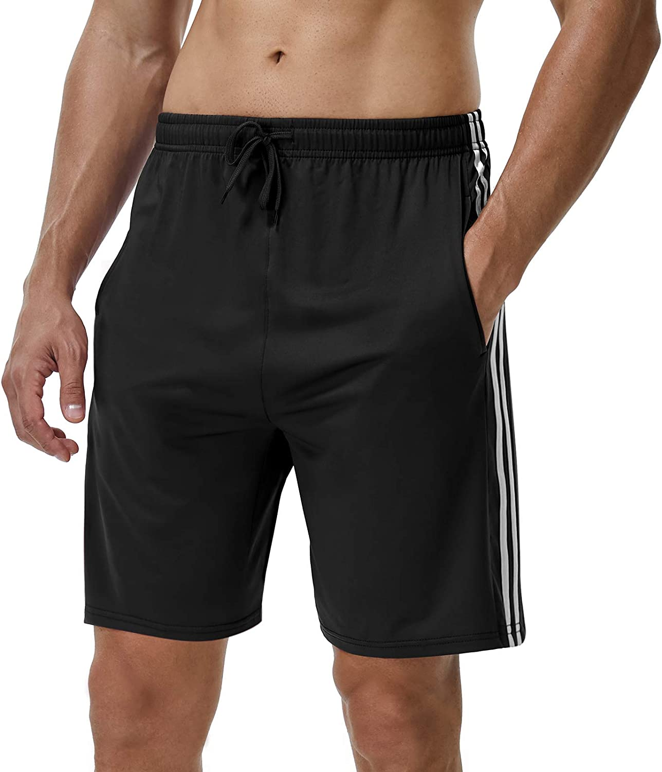 with Pockets 3 Pack Quick Dry Workout Gym Basketball Shorts YOMOVER Athletic Shorts for Men