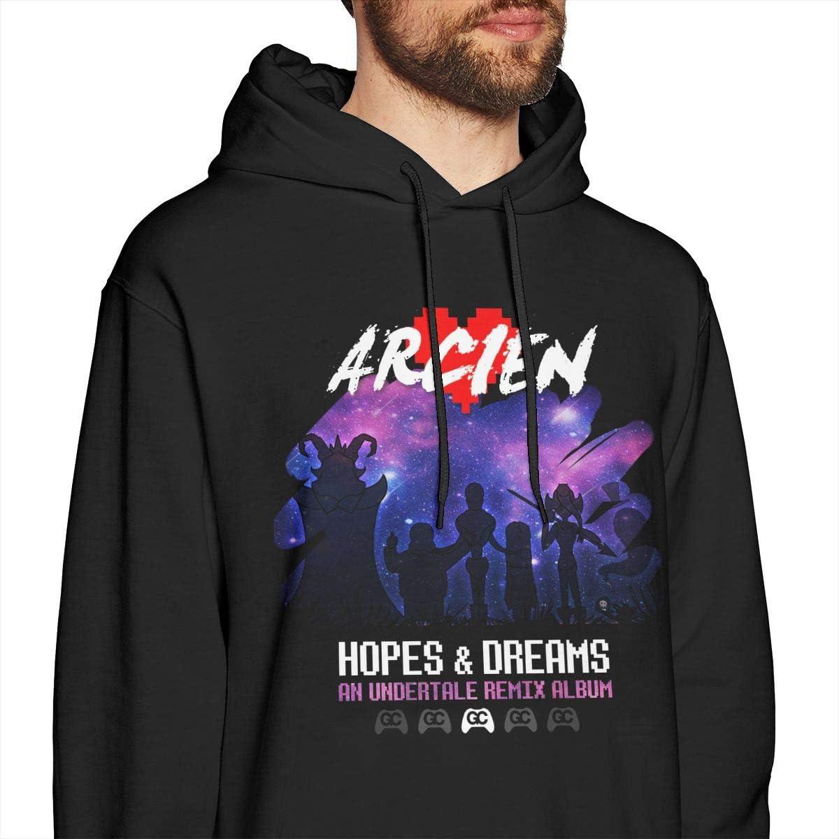 Ysahcj Arcien Hopes /& Dreams Mens Hoodie Sweatshirt Black
