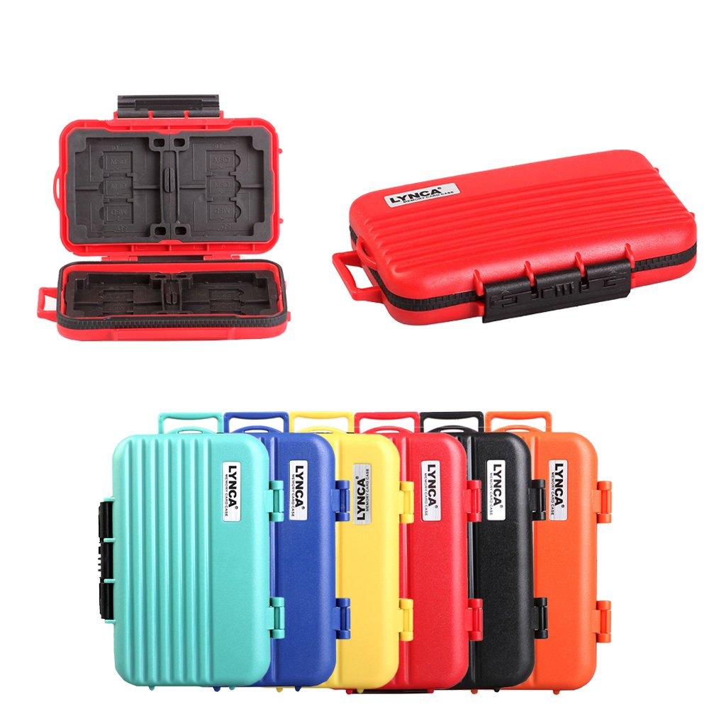 Memory Card Cases, HelloPower SD SDHC SDXC CF TF Memory Card Case Holder Waterproof Carrying Storage Case Holder Box Keeper for Computer Camera Media Storage Organization with 24 slots (Red)