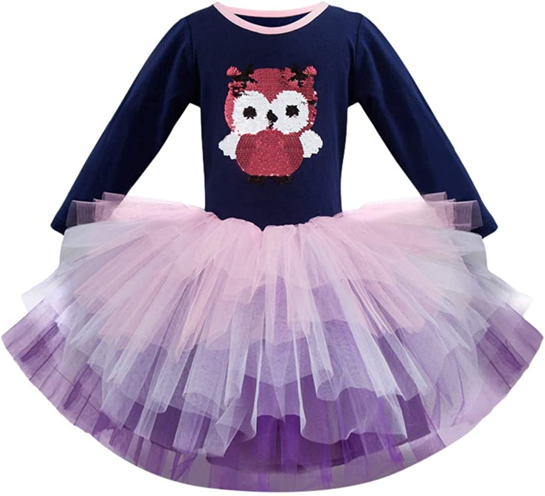 OPAKY Vestido de Tutu Princesa Unicornio Arco Iris Fiesta de cumpleaños Disfraz Bautizo para Niña Vestido Infantil Ceremonia Fiesta Bebe Niña Ropa ...