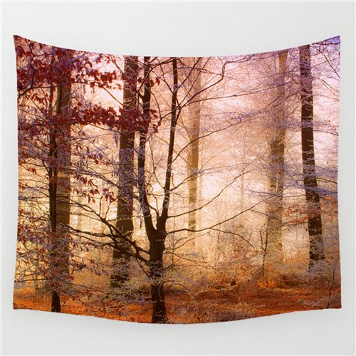 Tapestry Series Blanket (Tapestry Tapestries Decor Wall hanging Beach towel_Sunshine forest series tapestry beach towel park blanket 42,4,75x87cm)