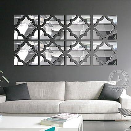 Amazon.com: funlife 25x100cm 20pcs Flower Square Loop 3d Acrylic ...