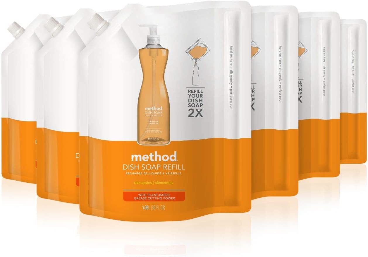 Method Dish Soap Refill, Clementine, 36 Fl Oz (6 Count)