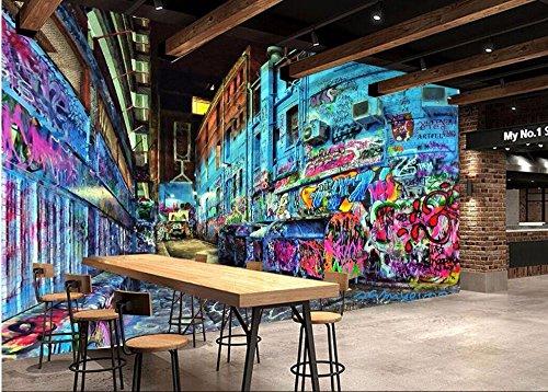 LWCX Custom Mural 3D Wallpaper Picture Graffiti Animal Trend Photo Wall Paper Decor Painting 3D Wall murals Wallpaper for Walls 3D 250X175CM