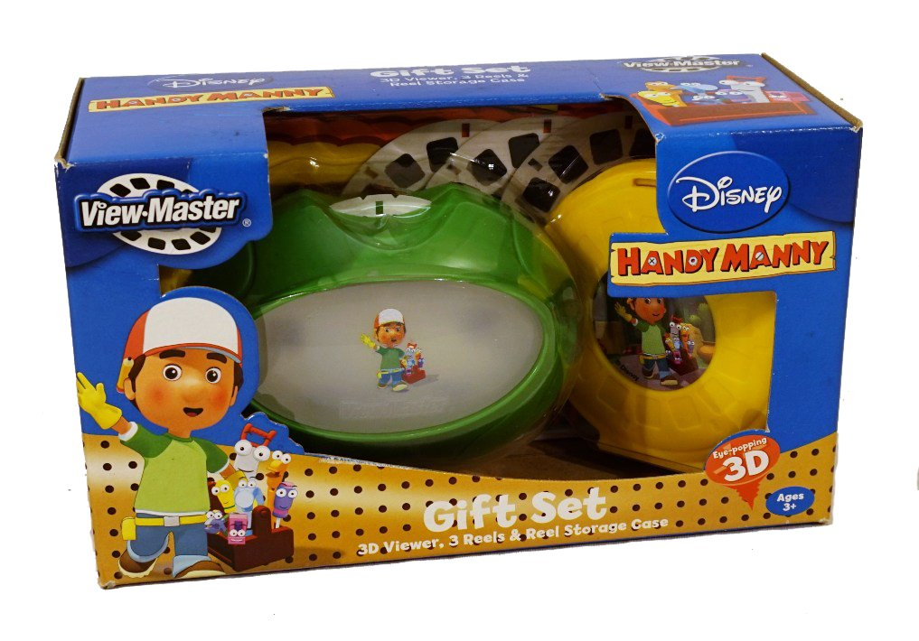 Disney Handy Manny View-master Gift Set 3d Viewer, 3 Reels and Reel Storage Case