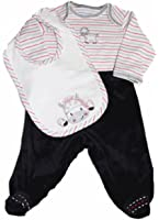 Little Me Baby-boys Knit and Velour Footed Pony 3 Piece Set