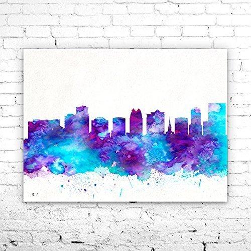 Florida City Map.Amazon Com Orlando Florida City Skyline Orlando Poster Orlando