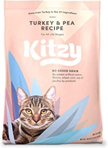 Amazon Brand – Kitzy Dry Cat Food, No Added Grains (Turkey/Whitefish & Pea Recipe)