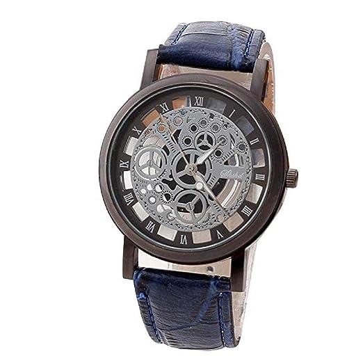 ¡Promoción Reloj de Cuarzo analógico para Hombres en Oferta Liquidación Reloj de Cuero Relojes Relojes