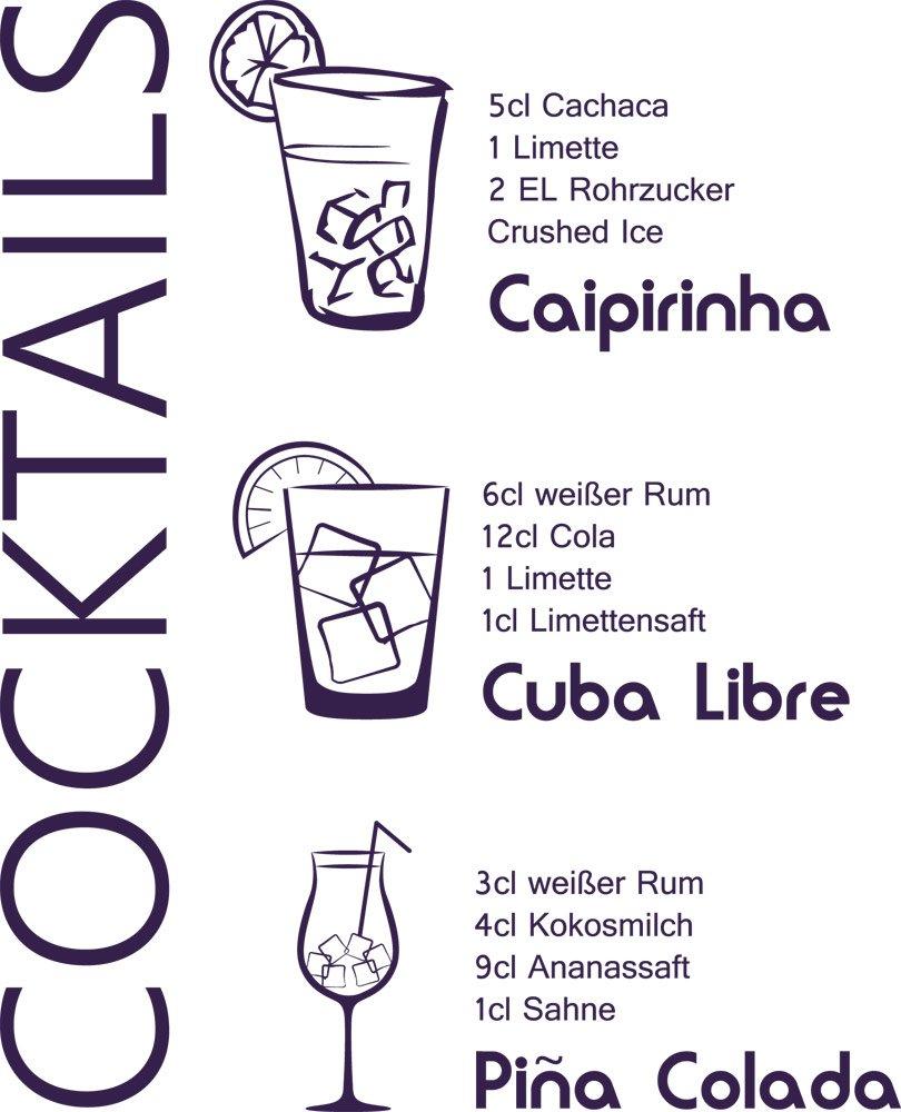 GRAZDesign 300022_30_WT040 Wandtattoo Küche Rezept Cocktails ...