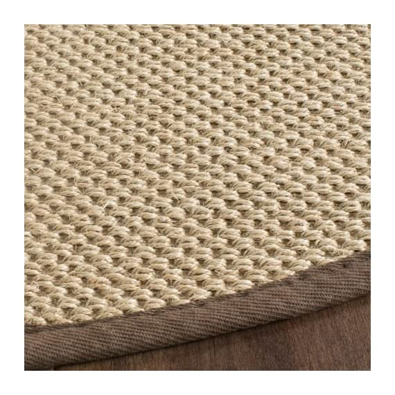 Safavieh NF141C-10 Area Rugs - Construction Power Loomed Fiber/Finish 100% Sisal Pile Backing Power Loomed Rugs Do Not Use Backing Material On The Underside Of The Rug. A Thin Coat Of Latex Is Applied To The Underside Of The Rug To Secure The Yarns Firmly In Place. This Latex Coat Is Virtually Invisible And Is Not Considered Backing Material. - living-room-soft-furnishings, living-room, area-rugs - 61TdiRNFpaL. SS570  -