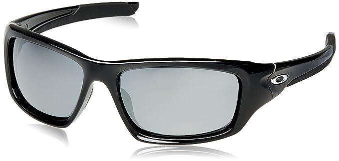 Oakley - Gafas de sol Rectangulares Valve para hombre, Polished Black/Black Iridium (