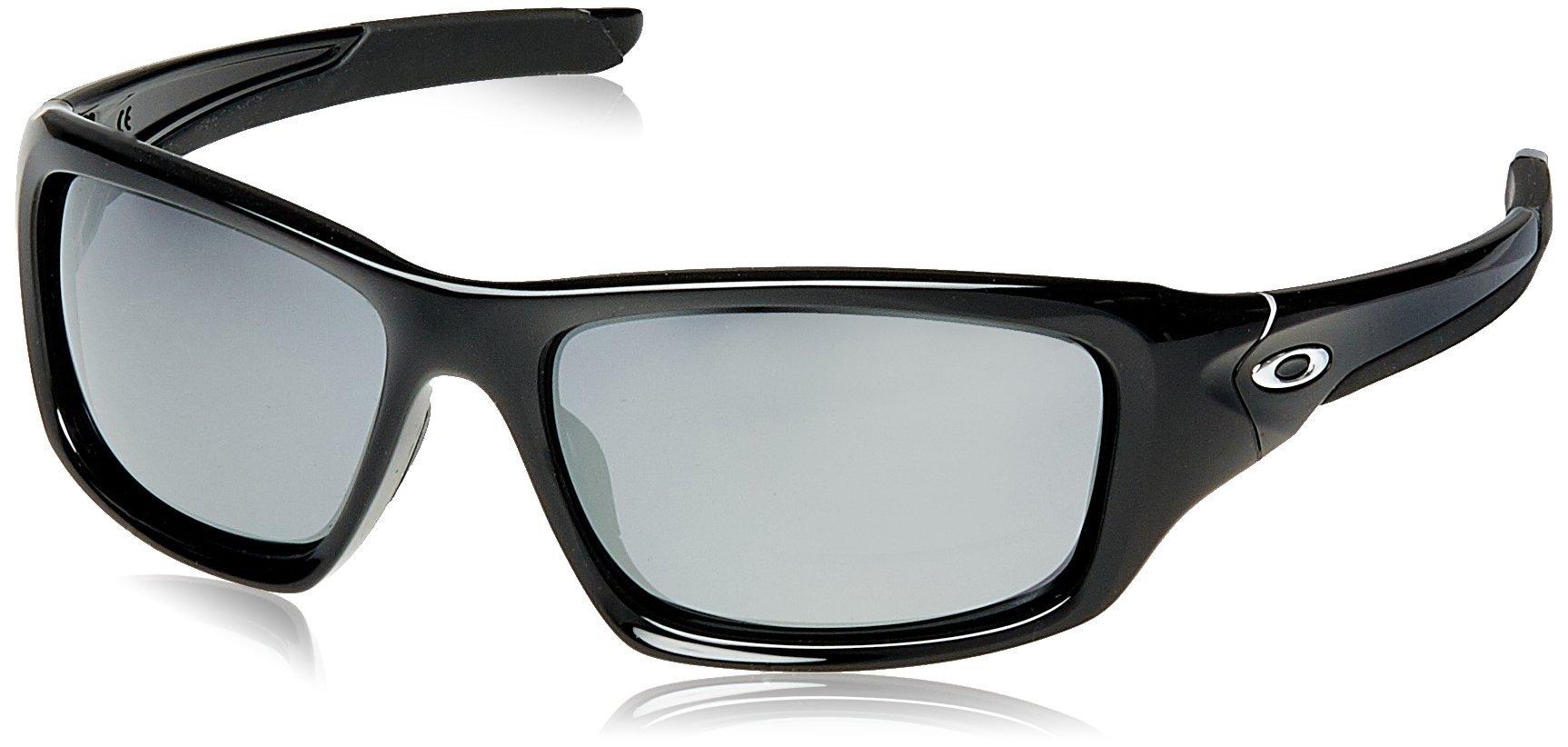 Oakley Valve Non-polarized Rectangular Sunglasses,Polished Black w/ Black Iridium,60 mm