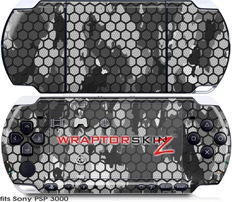 Sony PSP 3000 Decal Style Skin - HEX Mesh Camo 01
