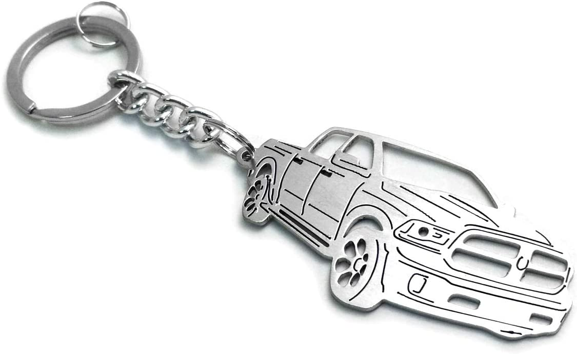 Stainless Steel Keychain Suitable for Dodge Ram IV Laser Cut Key Chain with Ring Car Body Profile Design 3D Keychains