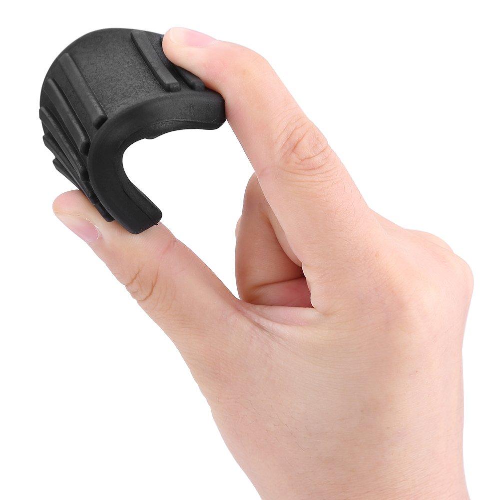 2pcs Couvre-P/édale dEmbrayage Keenso P/édale de Frein de Voiture Repose-Pieds Embrayage Couvercle de P/édale en Caoutchouc Couverture Protection Noir pour MK6 MK7 2000-2014