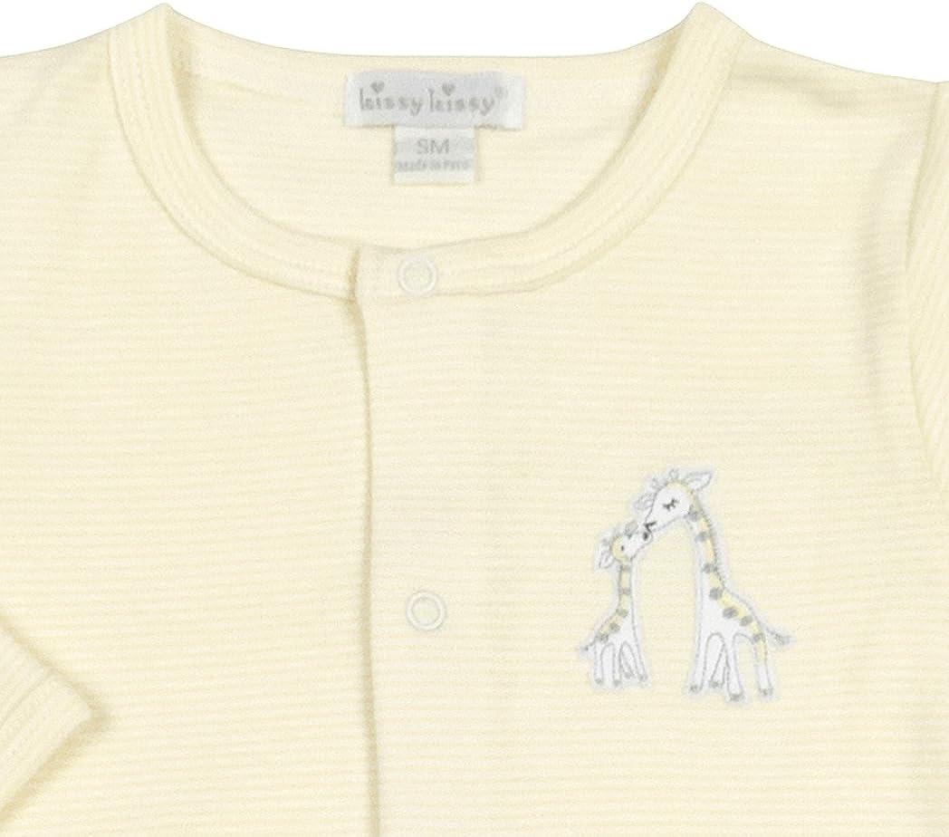 Yellow Kissy Kissy Unisex-Baby Giraffe Generations Stripe Converter Gown