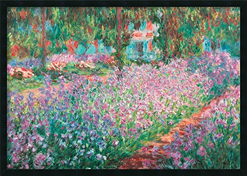 Framed Art Print, 'Le Jardin de Monet a Giverny' by Claude Monet: Outer Size 37 x 25