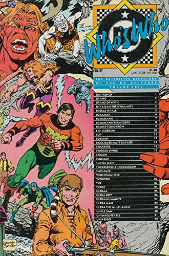 Who's Who: The Unambiguous Directory of the DC Universe #24 FN ; DC comic book
