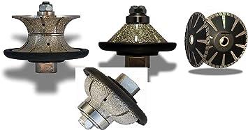 Diamond 3 4 Ogee Bullnose Bevel Bullnose Full Bullnose Shaping Profile Grinding Wheel Router Bit 5 Diamond Turbo Convex Curved Cutting Blade Stone Concrete Granite Marble Countertop Tile Amazon Com