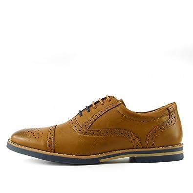 Kick Footwear Zapatos de Cordones Para Hombre, Color Marrón, Talla EU 43