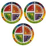 Fresh Baby Drink Up MyPlate Dinnerware (3 Pack), Multicolor