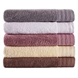 Bathroom Towels Set Clearance,Combed Cotton Towels,5 Pieces Bath Towels,Extra Large Towel,College Dorm Room Accessories