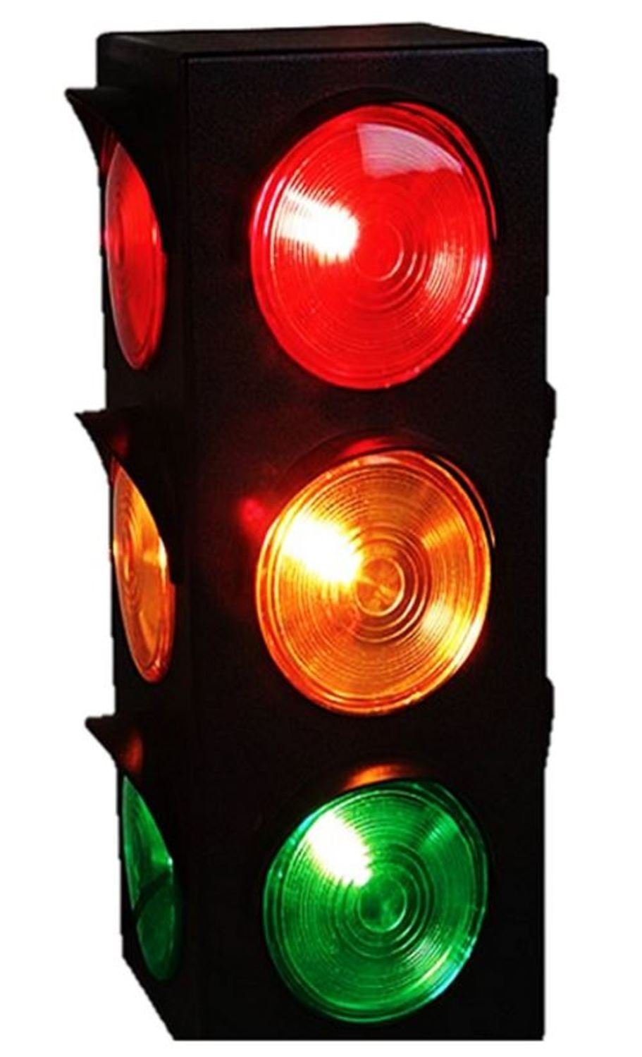 JEWELS FASHION Traffic Light Lamp - Plug-in, Blinking Triple Sided, 12.25 Inch-for Kids Bedrooms, Decorations, Parties, Celebrations, Prop, & Gift and More by JEWELS FASHION