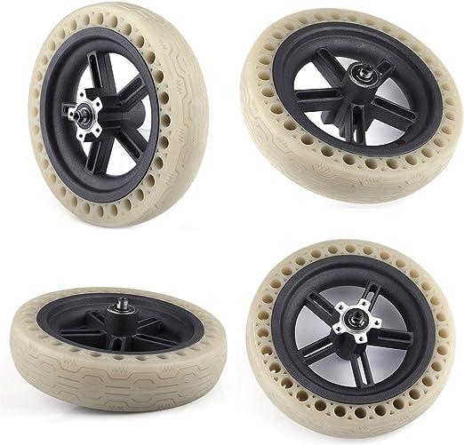 Neumáticos reflectantes Ruedas sólidas para scooter eléctrico Accesorios para scooter de absorción de choque para neumáticos sólidos Para Xiaomi M365: Amazon.es: Hogar