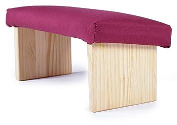 EcoYoga - Banco para meditación tapizado en granate