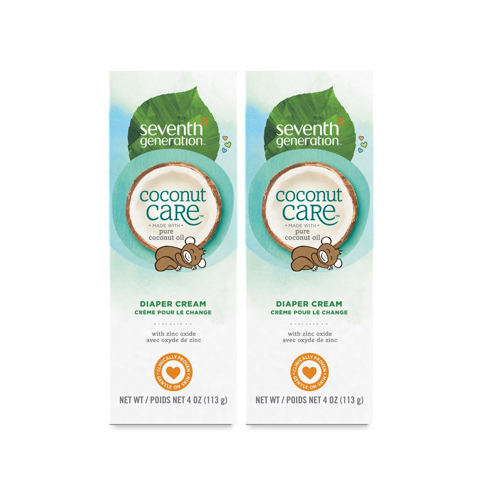 Seventh Generation Baby Diaper Cream with Soothing Coconut Care, 4 oz (2 count) by Seventh Generation