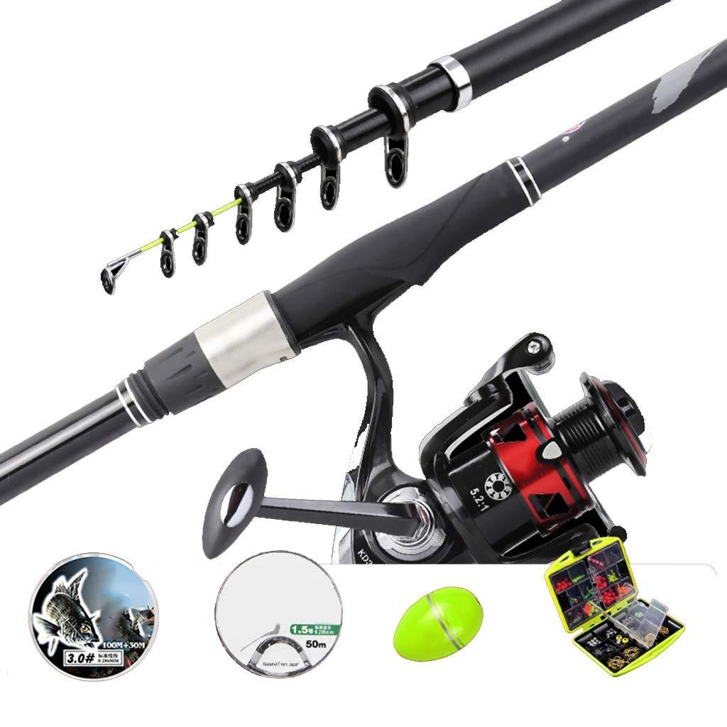 釣り竿 - 超軽量スーパーハードカーボン格納式シャフトホイール投げ手錠シーサイド釣りギア (サイズ さいず : 3.6m) 3.6m  B07QBZV9WT