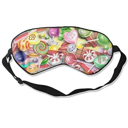 Eye Mask Eyeshade Lollipop Picture Sleep Mask Blindfold Eyepatch Adjustable Head Strap Accessoires Masques de sommeil