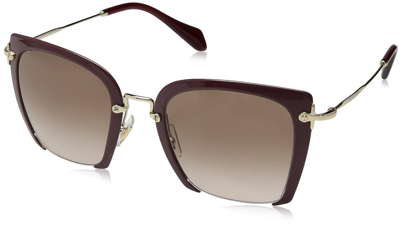 061f0335c722 Amazon.com  Miu Miu MU52RS UA50A6 Dark Purple MU52RS Square Sunglasses Lens  Category 2 Size  Miu Miu  Clothing