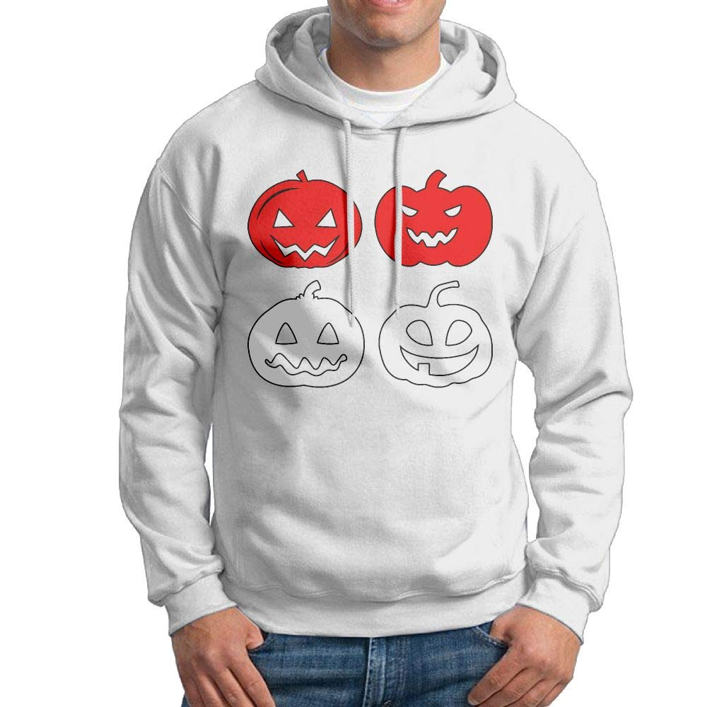 Mens Pullover Hoodie,Long Sleeve Indonesia Halloween Pumpkin Cotton Jacket for Mens