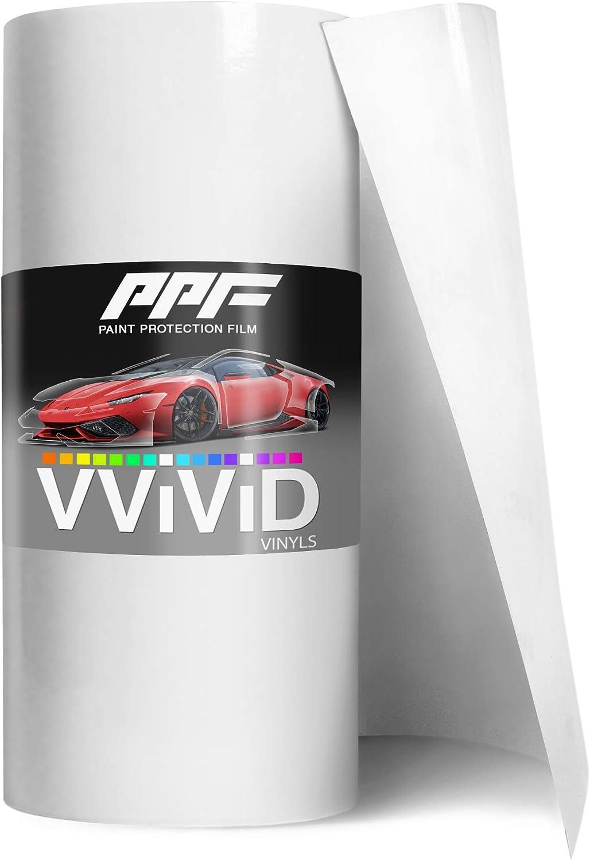 VViViD Clear Paint Protection Scratch Resistant Vinyl Wrap Film (12 Inch x 60 Inch)