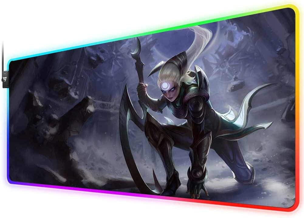 Diana RGB Gaming Mouse Pad for League of Legends,LED Soft Extra Extended Large Mouse Pad,Anti-Slip Rubber Base,Computer Keyboard Mouse Mat 31.5 X 12 Inch