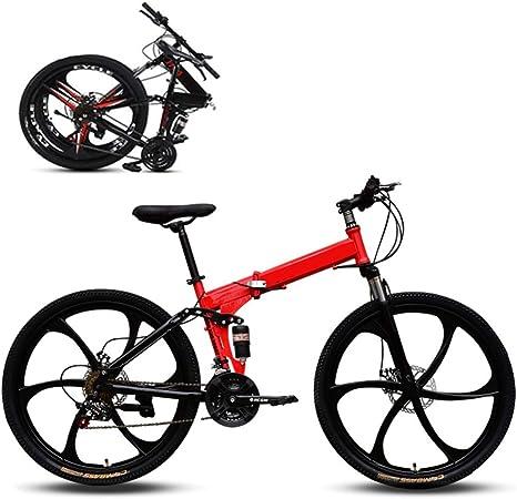 Jjwwhh Plegable Adulto Mountain Bike Bicicletas de Amortiguador portátil Boy Adultos y Hombre Kit Chica de la Bicicleta de la Bicicleta/Red: Amazon.es: Deportes y aire libre