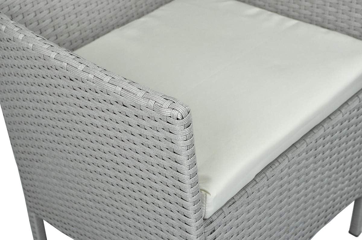 SAMIRA Salotto da Giardino in Rattan Erica Set di divani da Esterno in polyrattan Tortora MOD