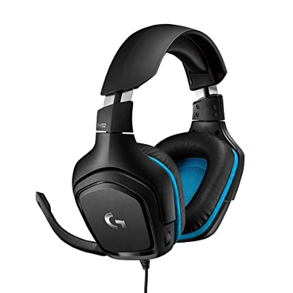 75c822ba241 Logitech G432 7.1 Surround Sound Wired PC Gaming Headset (Leatherette)  (Stereo - PS4