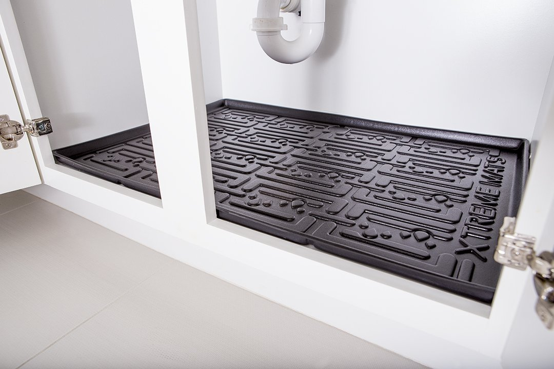 Amazon.com: Xtreme Mats Under Sink Kitchen Cabinet Mat, 33 3/8 X 21 5/8,  Black: Home U0026 Kitchen